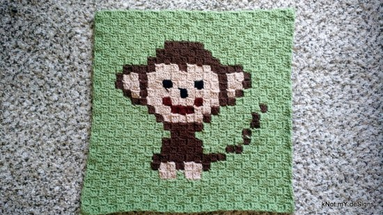 C2C Crochet Monkey Graph / Corner to Corner Crochet Monkey - Knot My Designs