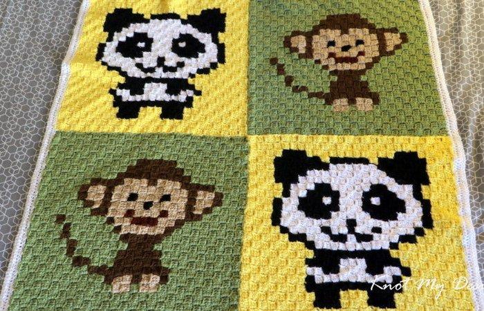 Crochet C2C Beginner Graphghans + Tutorial | The Crochet Crowd | 450x700