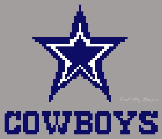 Blue Star Cowboys Pixel Art - Knot My Designs