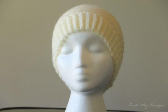 Crochet Buff Textured Child Beanie Free Pattern - Knot My Designs