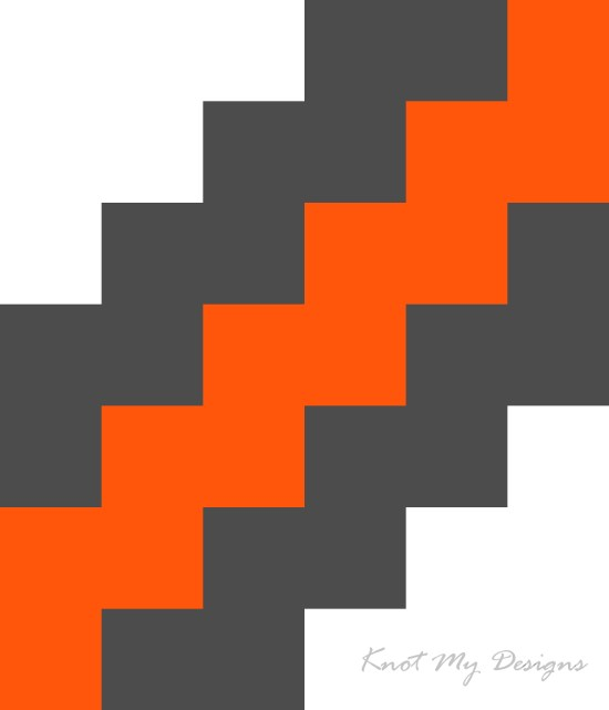 Crochet C2C Zig-Zag Angled Pixel Art - Knot My Designs