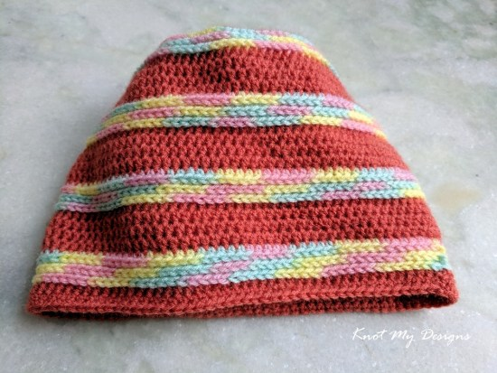 Crochet Marled Slouch Toddler Beanie Free Pattern - Knot My Designs