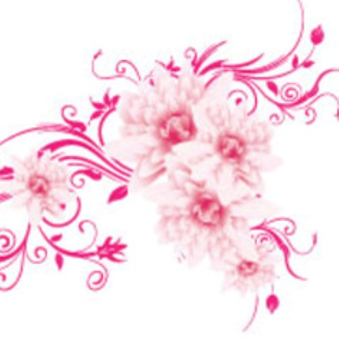 Pink Floral Clipart