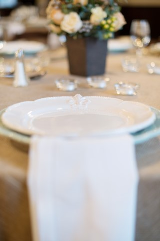 Clean White Table Setting