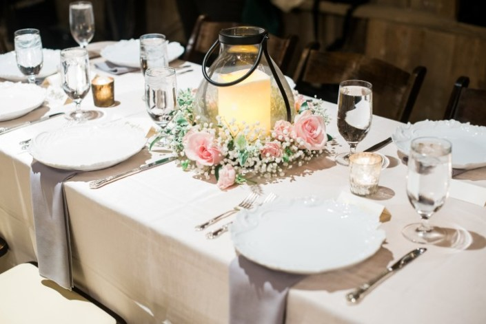 Table Setting with a Touch of Blush