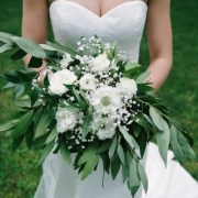 Bridal Photography White and Green Bouquet
