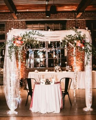 Reception Arbor Sweetheart Table