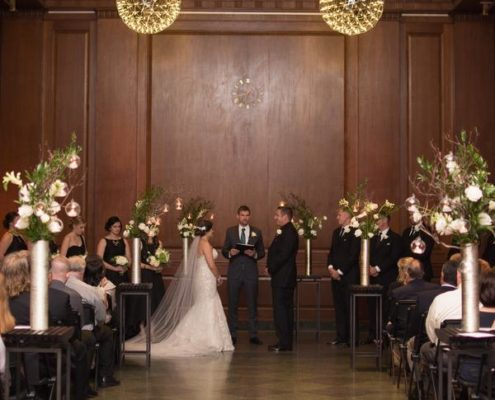 Modern Wedding Ceremony at 21C Museum Hotel