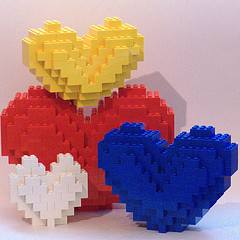 """Lego Hearts"" by Bill Ward (2009), shared under a Creative Commons Attribution license"