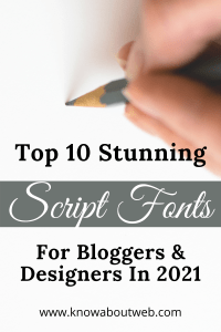 Read more about the article Top 10 Stunning Script Fonts For Designers In 2021