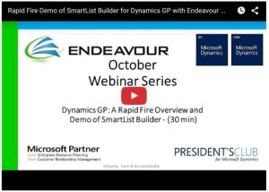 Endeavour Solutions Canada and USA for Dynamics GP
