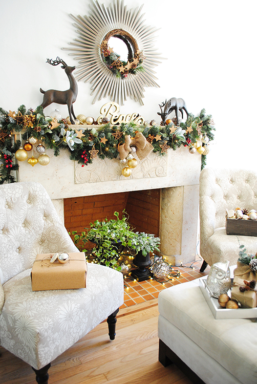 The Home Depot Holiday Style Challenge Mantle 1