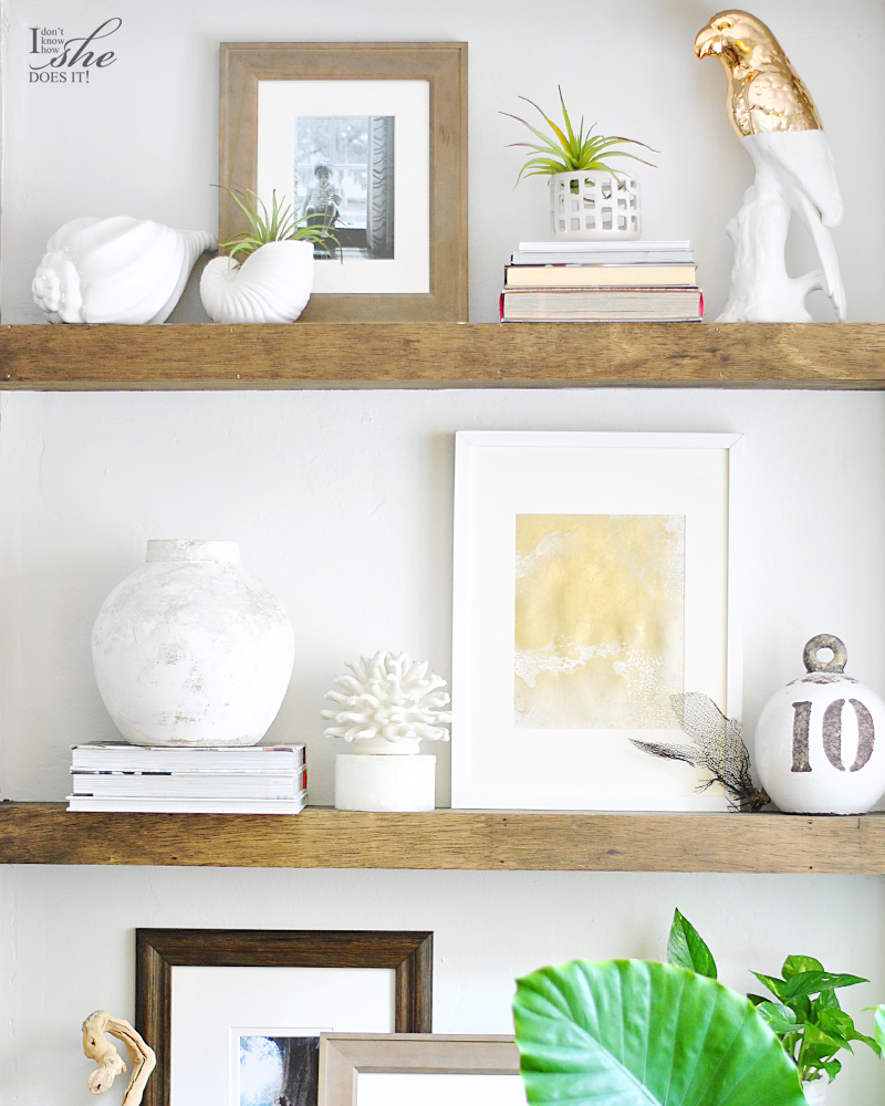 Summer inspired shelves