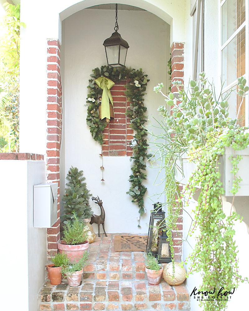 Small Porch Christmas decor
