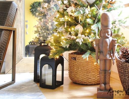 Christmas tree basket ideas and tips natural fiber 2