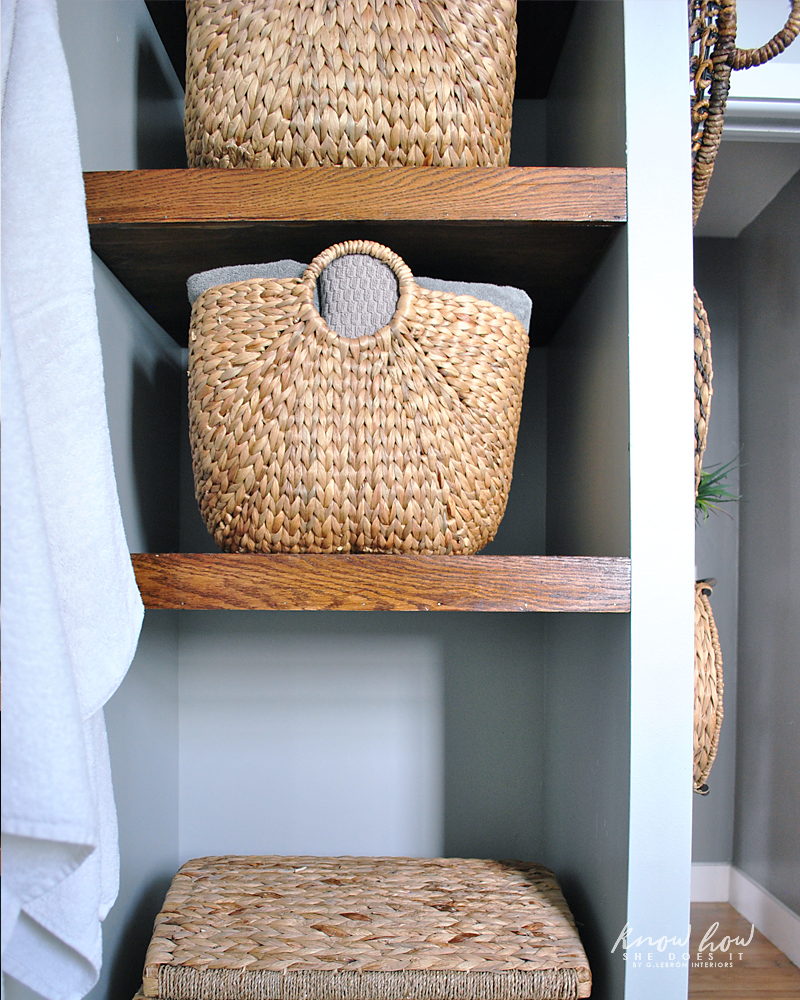 Bathroom Organization towel baskets