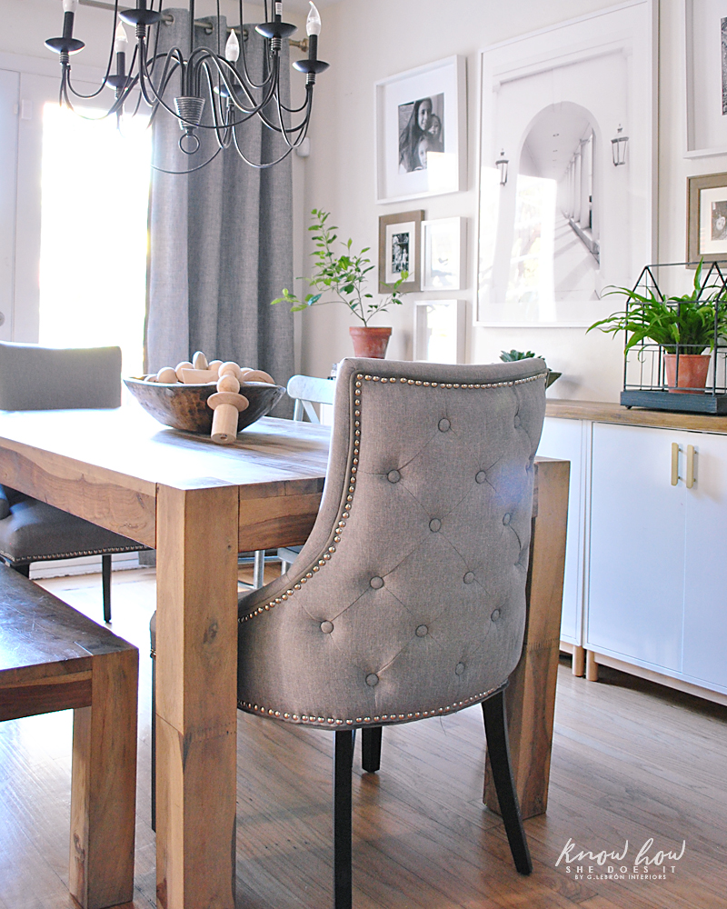 Charmant Simple Dining Room End Chairs