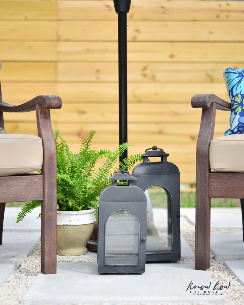 Colorful mix and match outdoor patio pieces 3
