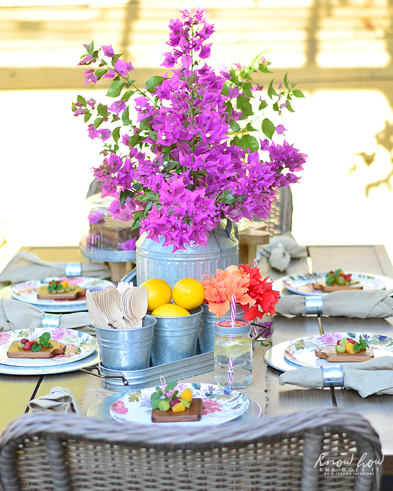 Bringing simple spring decor to outdoor entertaining Full Table