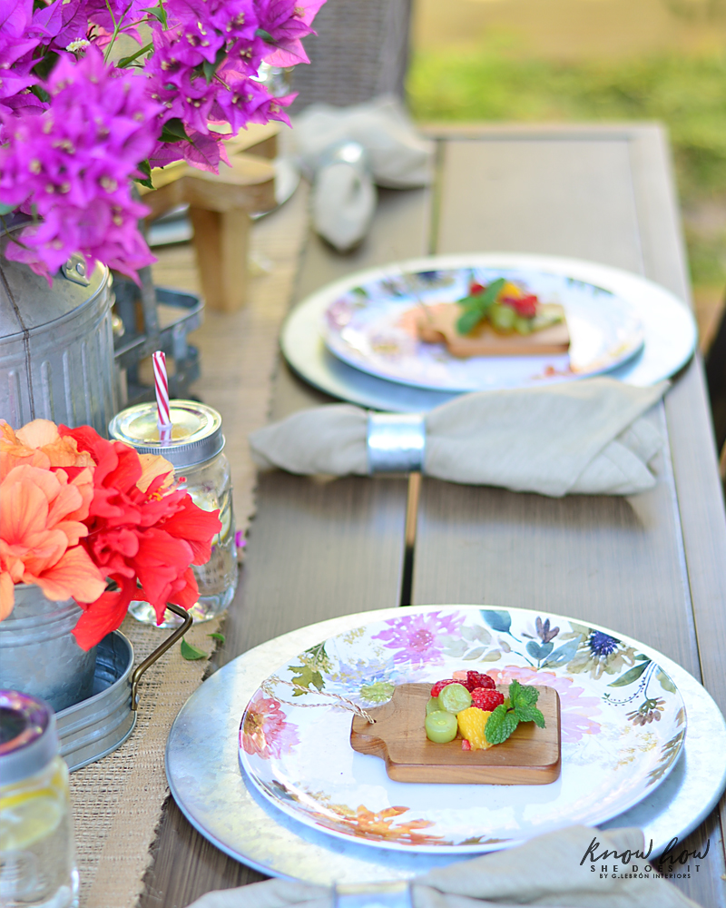 Bringing simple spring decor to outdoor entertaining Side