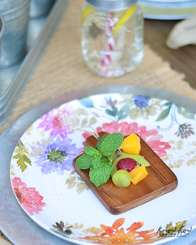 Bringing simple spring decor to outdoor entertaining Fruit Salad Close Up