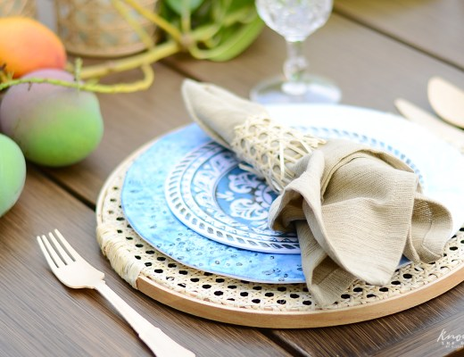 Cane Charger Plates Tutorial Featured