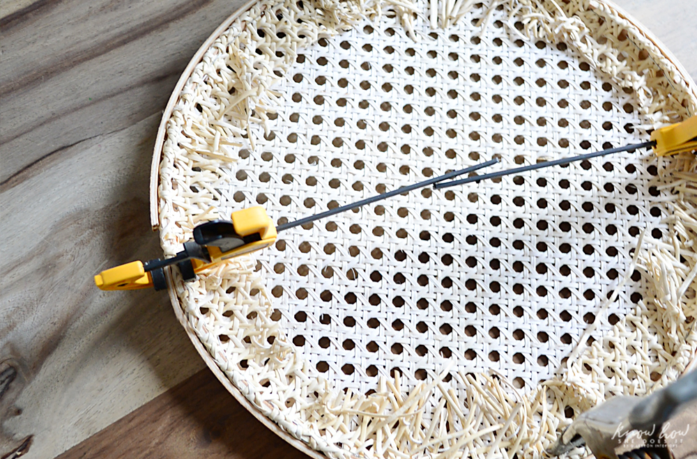 Cane Charger Plates Tutorial Clasp