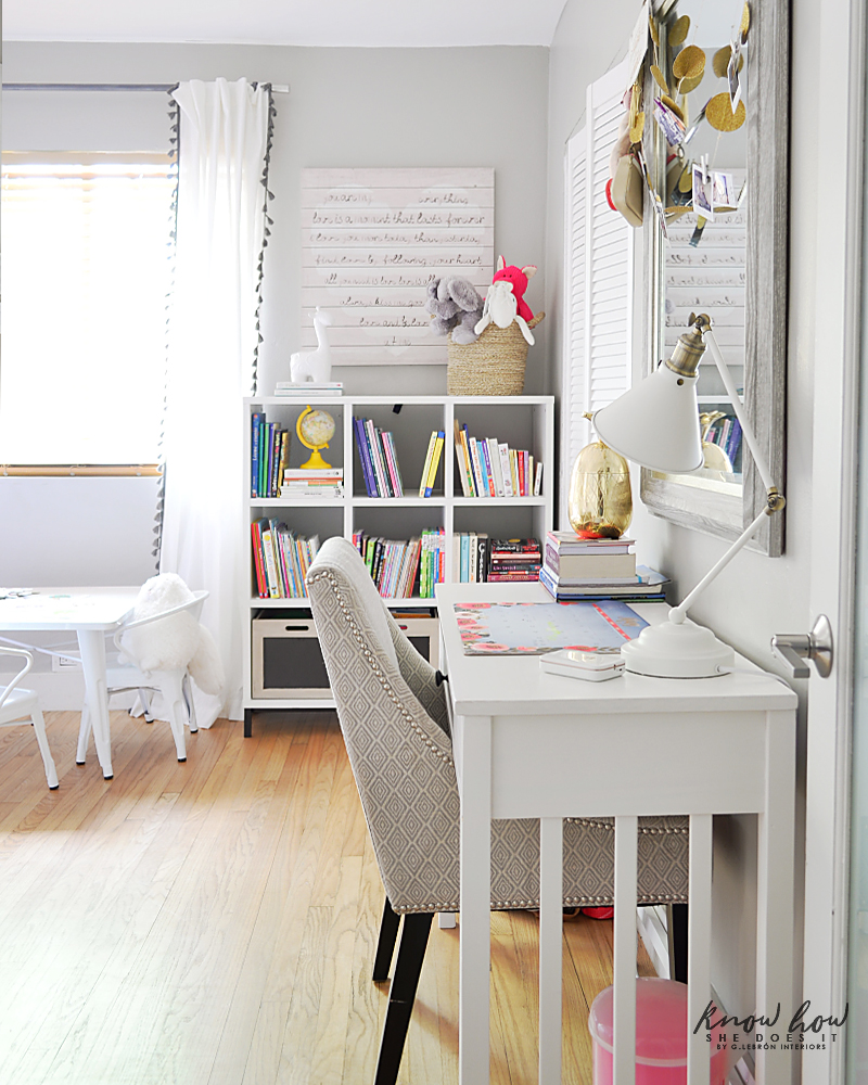 Bringing Happiness Girls Room desk