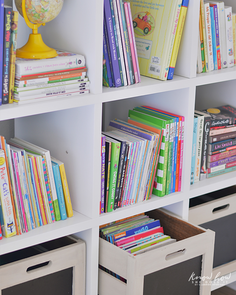 Bringing Happiness Girls Room bookcase 1