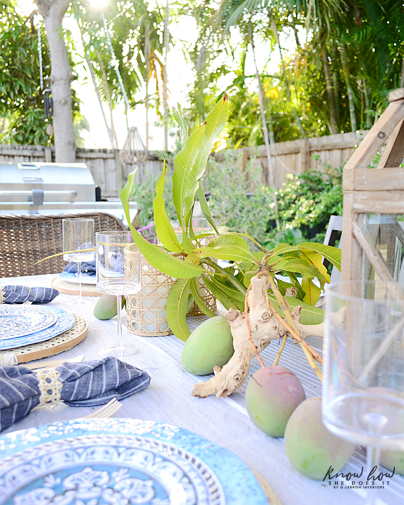 HomeGoods Summer Home Tour Table Setting 9