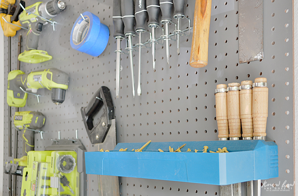 Old Garage Fresh Look Pegboard Hooks