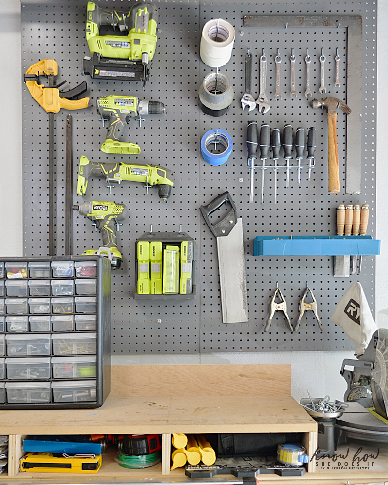 Old Garage Fresh Look Tools Pegboard 2