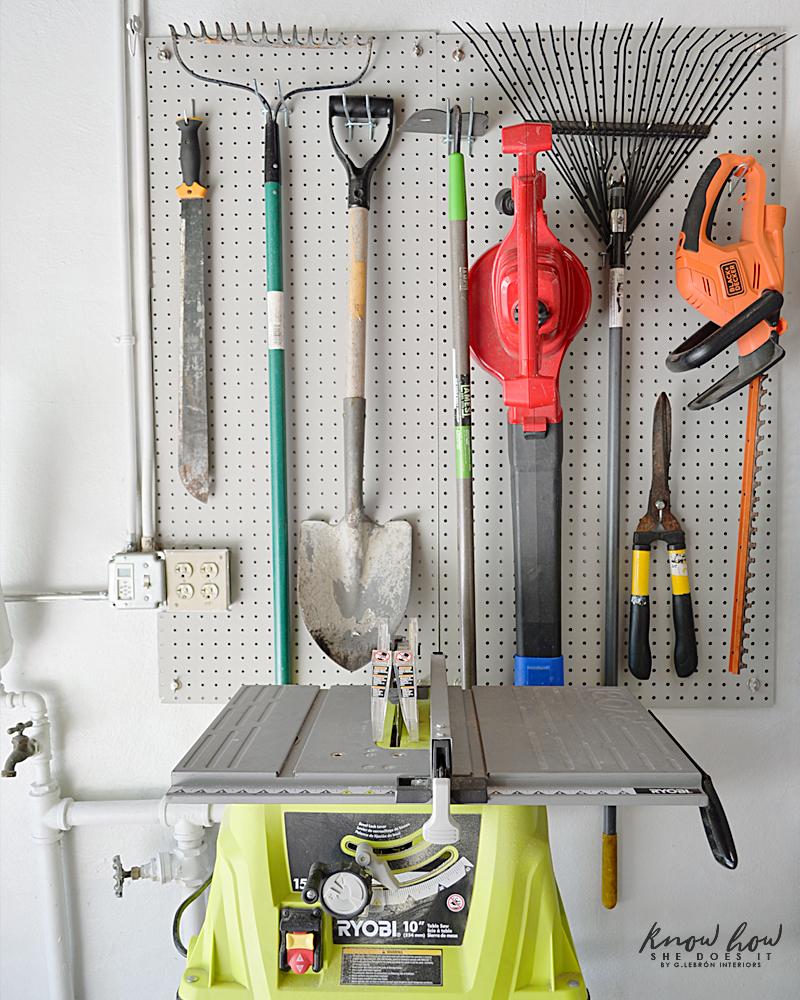 Old Garage Fresh Look Outdoor Tools