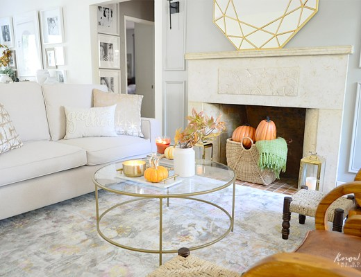 Affordable Fall Room Refresh Living Room 4