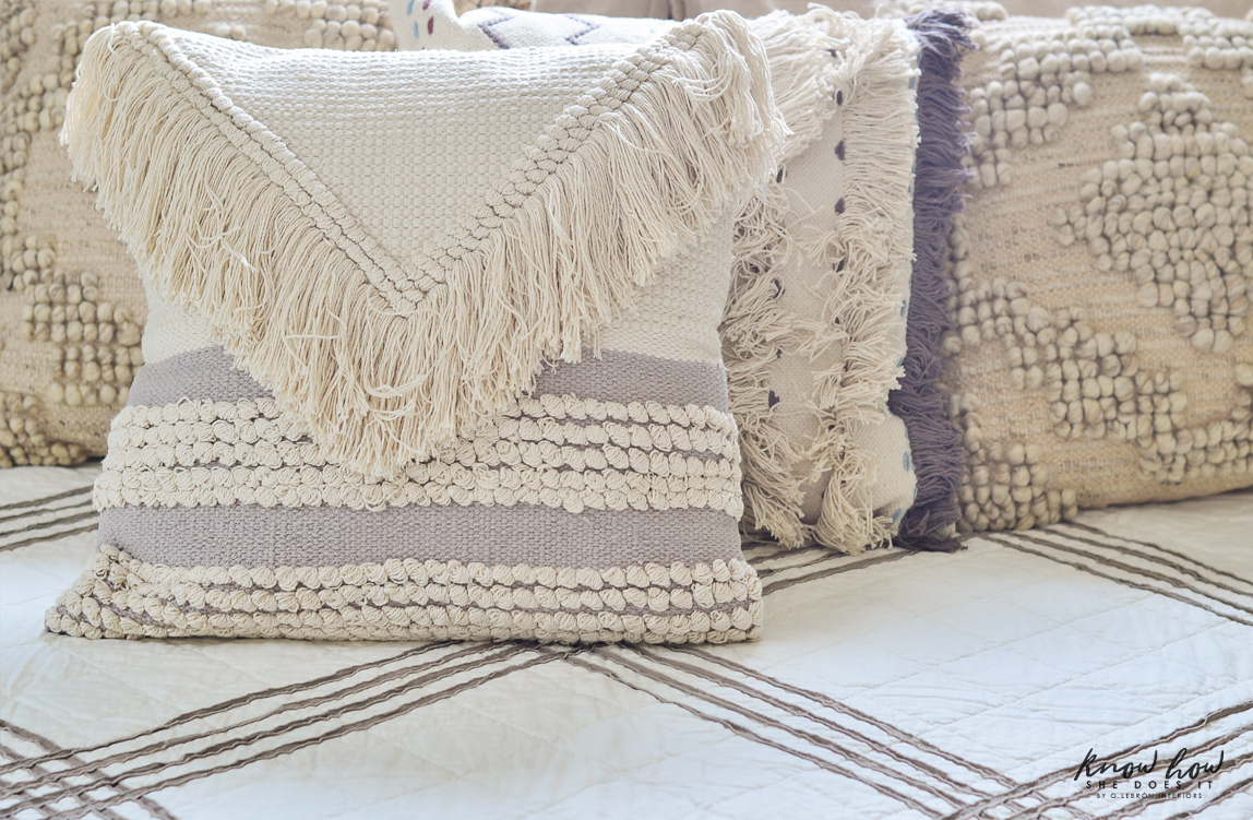 A dash of neutral boho throw pillows 1