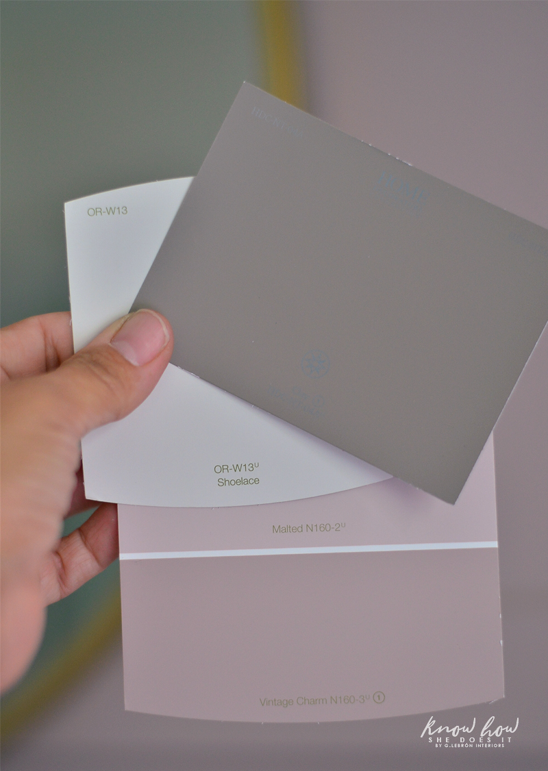 Project Color App Girl's Bedroom Paint Swatch