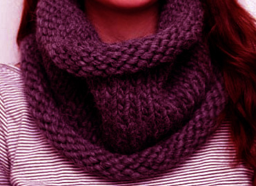 Chunky-snood-Knitting