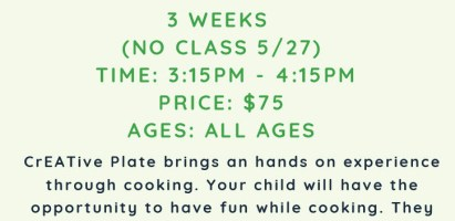 New Cooking Class – starts May 20th