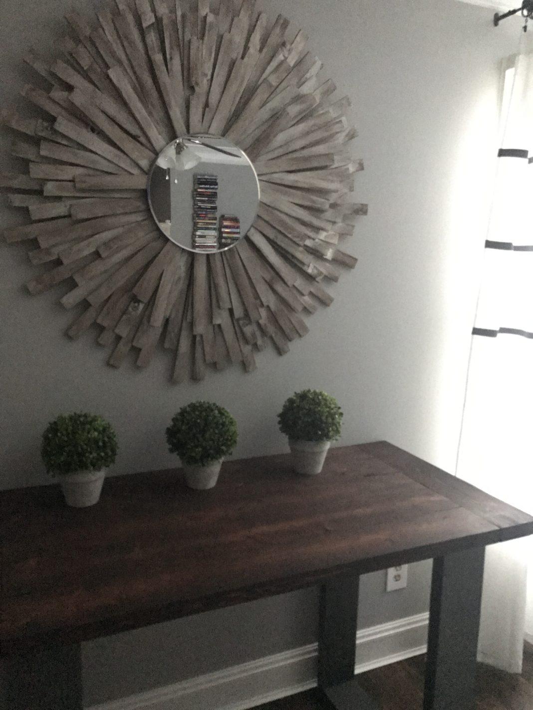 Sunburst Mirror DIY- Cheap and Creative Wall Art with Wood ... on Creative Wall Decor  id=21088