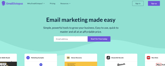 EmailOctopus Review- Overview