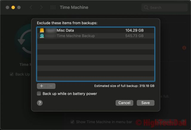 Time Machine exclude directory from backup - HighTechDad OneDrive and Time Machine fix