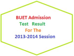 BUET Admission Test Result 2013-14