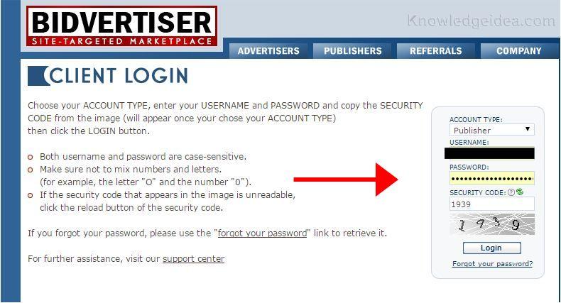 How to Apply to Bidvertiser step 3