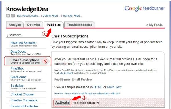 How to Setup FeedBurner For WordPress Step 6