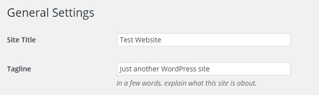 5 Important Things To Do After Installing WordPress replace tagline