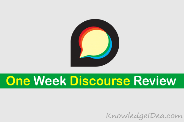 One Week Discourse Review