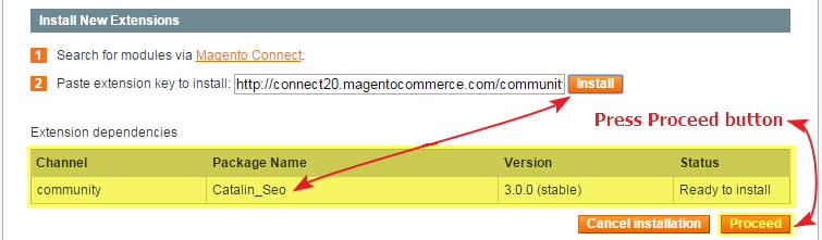 How to Install Extensions in Magento step 2