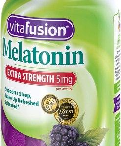 Vitafusion Extra Strength Melatonin Gummy Vitamins, 5mg, 120 ct Gummies
