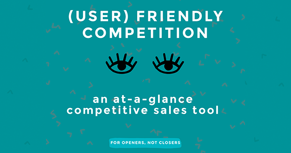 Flash cards: an at-a-glance competitive sales tool