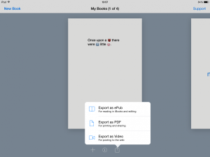 How to export a file in Book Creator